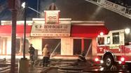 Arson detectives investigating fire at chicken restaurant