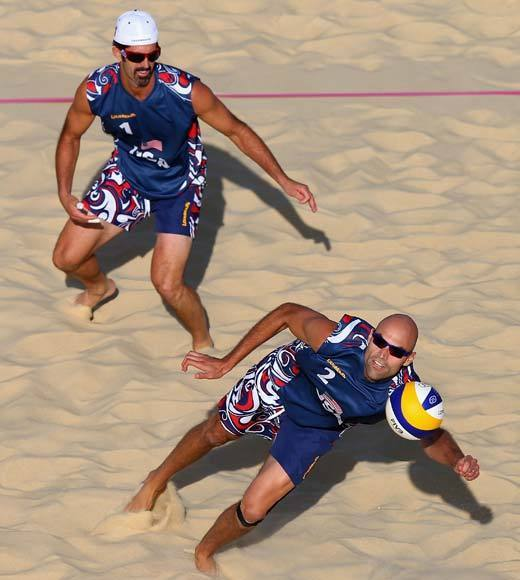 "Defending beach volleyball gold medalists Phil Dalhausser, 32, and Todd Rogers, 38, saw their chance at a repeat disappear Friday (Aug. 3) when they were swept in the Round of 16 by Italians Paolo Nicolai and Daniele Lupo. It was a huge upset for Italy in a sport that has been largely dominated by Brazil and the U.S. since its Olympic inception in 1996.<BR><BR>The U.S. still has women's pairs April Ross/Jen Kess and Misty May-Treanor/Kerri Walsh-Jennings, plus men's pair Jake Gibb/Sean Rosenthal competing in the Olympics.<Br><BR>-- <i><a href=""http://twitter.com/andrealeigh203"">Andrea Reiher</a>, <a href=""http://www.zap2it.com"">Zap2it</a></i>"