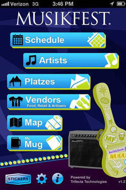Musikfest has unveiled a free mobile application that allows users to browse performances by day of show or platz venue and use an interactive festival map to navigate between stages, food vendors and craft stands.