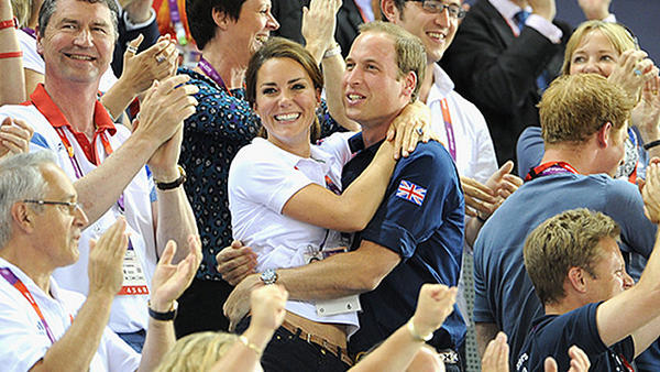 Prince William & Kate Middleton's Olympic PDA