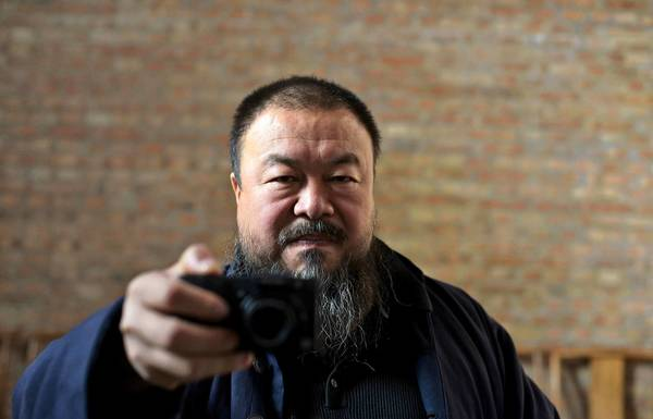 "Ai Weiwei in Alison Klayman's documentary ""Ai Weiwei: Never Sorry."""