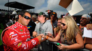 Juan Pablo Montoya has turned a lap of 176.043 mph to win the pole at Pocono Raceway.
