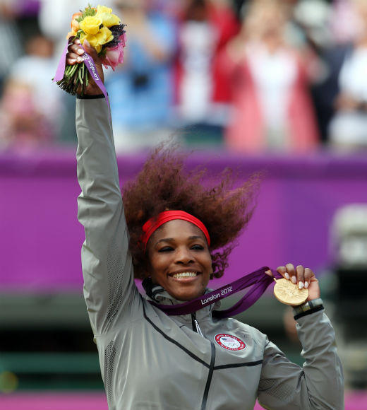 London 2012: Team USA's Gold Medalists: Serena Williams took the gold in the tennis womens singles match on August 4 and with her sister Venus Williams in the womens doubles match on August 5.