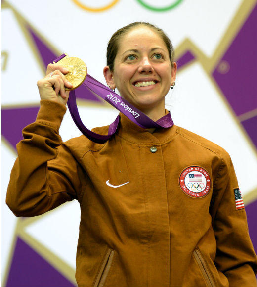 Jamie Gray won gold in the Women's 50m rifle 3 position on August 4. She also competed in the 2008 Beijing Olympics.