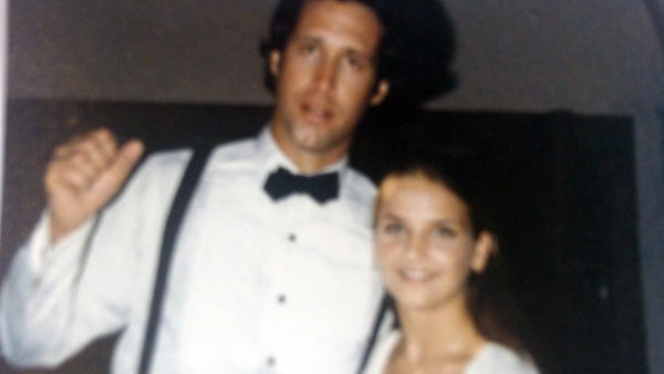 "A teenage Kim Bordeaux Douglas seen with Chevy Chase during the filming of ""Caddyshack,"" in which she had a bit part. Douglas died last week at the age of 49, after years of pain pill abuse."
