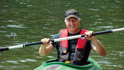 Stonycreek-Conemaugh River Improvement (SCRIP) Chairman Len Lichvar paddles on the Quemahoning Reservoir. SCRIP, along with the Pennsylvania Fish and Boat Commission, will sponsor a boating and paddling education event open to the public at the Que on Aug. 18.