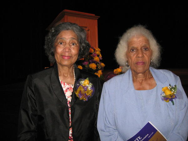 Former teachers Mary Alice Riffe and Jewell Gayton Lay were honored by the Bate School Alumni Association for their distinguished careers.