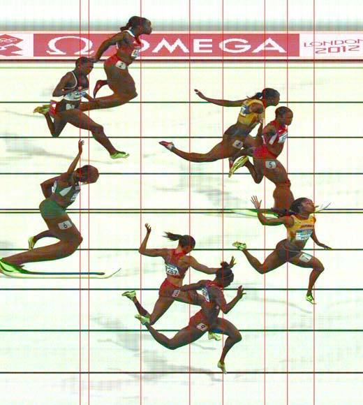 "Carmelita Jeter of the U.S. was edged out by three-hundredths of a second for gold in the women's 100m race by Jamaica's Shelly-Ann Fraser-Price, who also won the event in 2008 in Beijing. Jamaica's Veronica Campbell-Brown took the bronze. Tianna Madison and Allyson Felix of the U.S. took fourth and fifth, respectively. The last woman to win back-to-back 100m golds was U.S. runner Gail Devers in 1992 and 1996.<Br><BR>-- <i><a href=""http://twitter.com/andrealeigh203"">Andrea Reiher</a>, <a href=""http://www.zap2it.com"">Zap2it</a></i>"