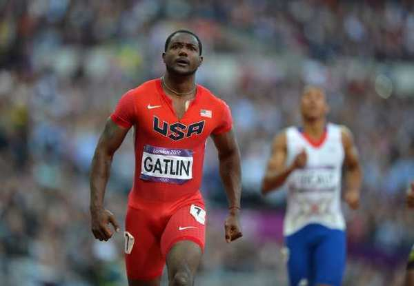 Justin Gatlin led all qualifiers for the men's 100-meter final.