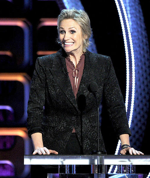 """Glee"" taskmaster and comedian Jane Lynch serves as the evening's emcee."