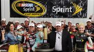 "<span style=""font-family: Arial;""><span class=""larger""><span style=""color: black;"">Jeff Gordon, one of NASCAR racing's biggest rainmakers, got a shower just when he needed it in Sunday's Pennsylvania 400.</span></span></span>"