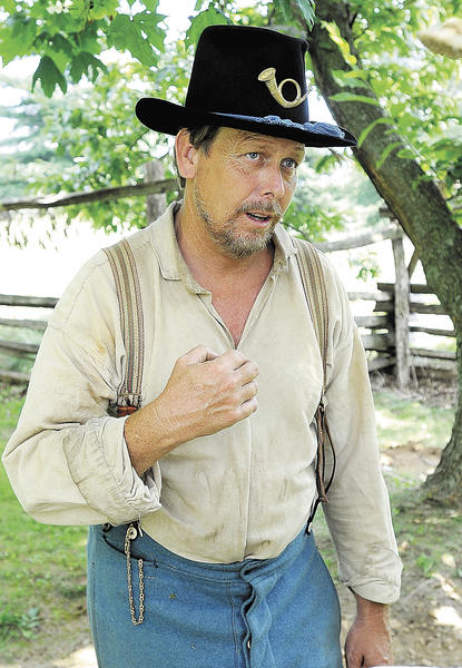 Living historian Jeff Hayes, of Hagerstown, was part of Sunday's Civil War living history encampment at South Mountain State Battlefield in Boonsboro.
