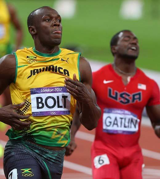"Jamaica's Usain Bolt is once again the fastest man in the world, as he won the men's 100m sprint. Countryman Yohan Blake took silver and U.S. runner Justin Gatlin took the bronze. Tyson Gay and Ryan Bailey of the U.S. took fourth and fifth, respectively.<Br><BR>-- <i><a href=""http://twitter.com/andrealeigh203"">Andrea Reiher</a>, <a href=""http://www.zap2it.com"">Zap2it</a></i>"