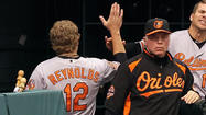 Orioles manager <strong>Buck Showalter</strong> expressed faith in slumping first baseman <strong>Mark Reynolds</strong>, saying he will continue to put Reynolds in the lineup despite his struggles.