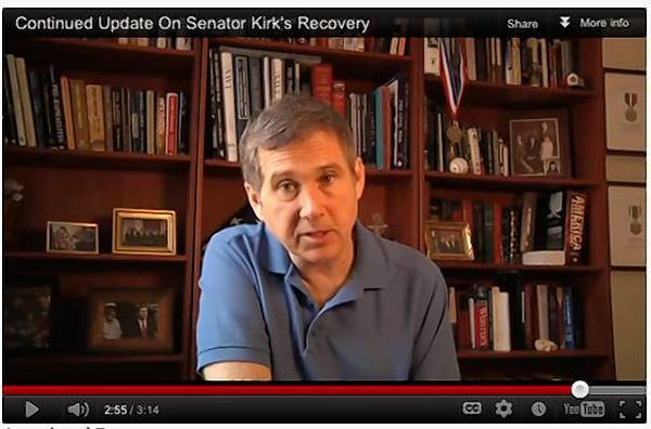 U.S. Sen. Mark Kirk has released a second video in which he talks about his recovery from a January stroke.