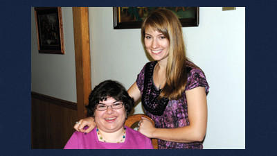 Kowatch sisters Jenny, 30, and Julianna, 24 have been a motivational force in each others' lives since their early childhood. Julianna said her experiences with her sister at home encouraged her to study pediatric physical therapy.