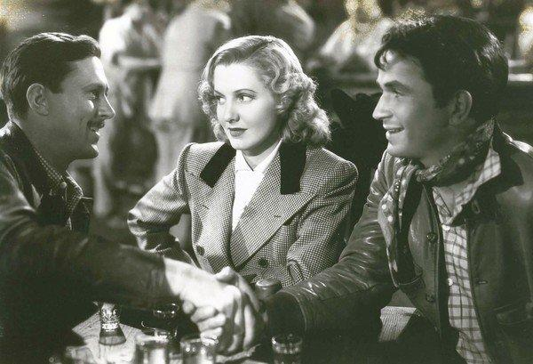 "Jean Arthur, center, in ""Only Angels Have Wings"" from 1939."