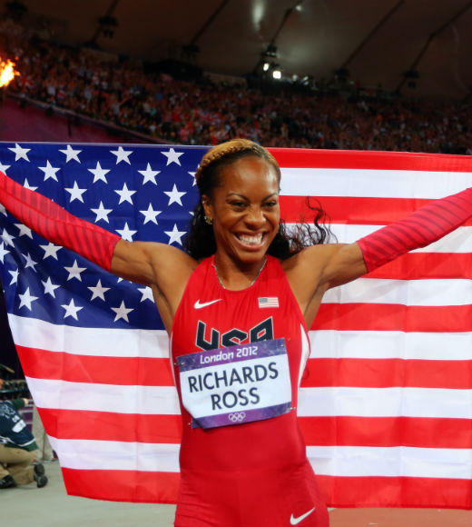 London 2012: Team USA's Gold Medalists: Sanya Richards-Ross won gold in the Womens 400m dash on August 5. Richards-Ross won the bronze in the event during the 2008 Olympics.