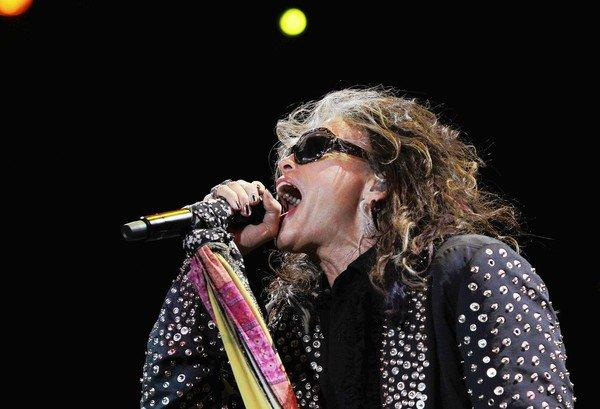 Steven Tyler performs with Aerosmith at the Target Center in Minneapolis on June 16, 2012.