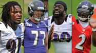 The Ravens had 13 players not participating in any part of practice Saturday and another two (tight end <strong>Ed Dickson</strong> and linebacker <strong>Darry Blackstock</strong>) who didn't finish the workout because of injuries. The potentially season-ending Achilles tear to linebacker <strong>Terrell Suggs</strong> was the biggest blow obviously, but the loss of practice time for first or second-year players like <strong>Bernard Pierce</strong> (hamstring),<strong> Tandon Doss</strong> (hamstring),<strong> Jah Reid </strong>(calf), <strong>Courtney Upshaw</strong> (shoulder) and <strong>Jimmy Smith</strong> (back) shouldn't be overlooked. Upshaw is the only one on the list that was a near certain starter, though Smith is competing with <strong>Cary Williams</strong> for a starting role. But the rest of the above-mentioned group figure to, at the very least, be key reserves. Ravens coach <strong>John Harbaugh</strong> does a great job not publicly fixating or fretting about injuries, but I'd have to imagine the coaching staff is getting anxious with how much practice time these guys are missing. The good news is Upshaw says he is real close to a return and Doss said that he expects to practice today.
