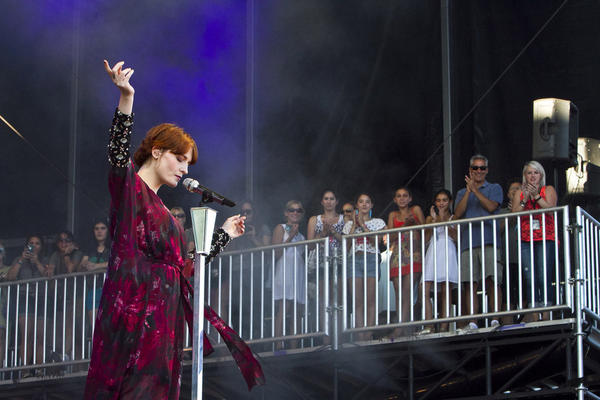 Florence   The Machine performs at Lollapalooza on Sunday.