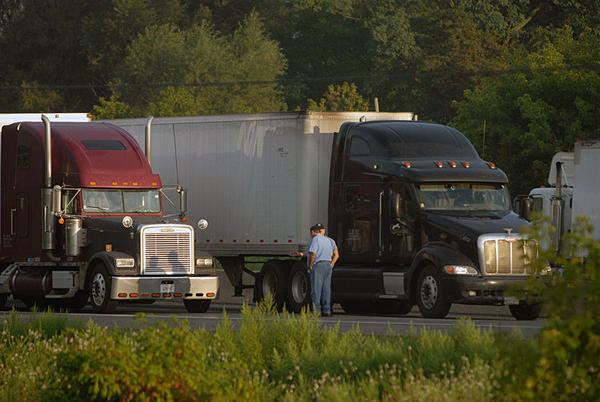 At least one man was killed early Monday morning, August 6, 2012 in a fiery tractor-trailer crash on I-78 east near the Fogelsville exit in Lehigh County.
