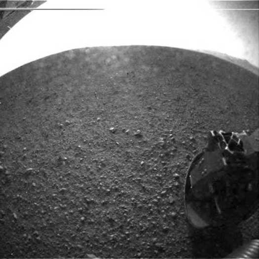 First Mars Curiosity images
