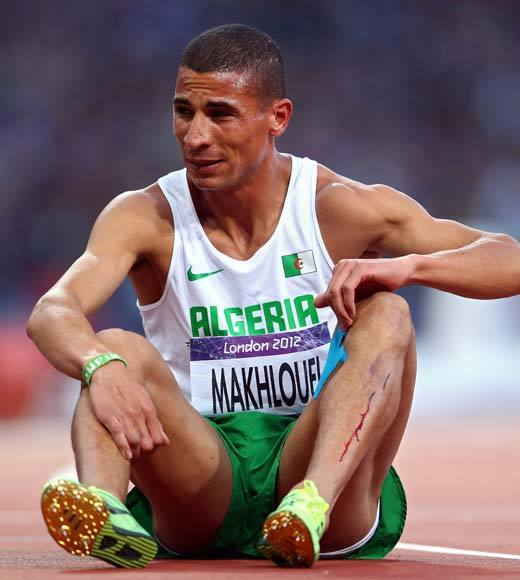 2012 Summer Olympics Best and Worst moments: Algerian runner Taoufik Makhloufi has been thrown out of the Summer Olympics for not trying hard enough. Hes a medal contender for the 1500m who was forced to run in the 800m after his team failed to withdraw him from the event by the deadline. So when the race started, he stopped running a couple hundred meters in and wandered into the infield.  International Association of Athletics Federations says in a statement, The Referee considered that he had not provided a bona fide effort and decided to exclude him from participation in all further events in the competition.   Makhloufi is just the latest in a string of athletes not trying their best at the 2012 Summer Games, the worst of which were eight female badminton players expelled for throwing matches so as to face easier opponents moving forward.  Update: The Algerian federation insists Makhloufi has a knee problem and organizers knew about it, so he was reinstated for the 1500m finals after a medical officer for the games assessed his condition.  -- Andrea Reiher, Zap2it