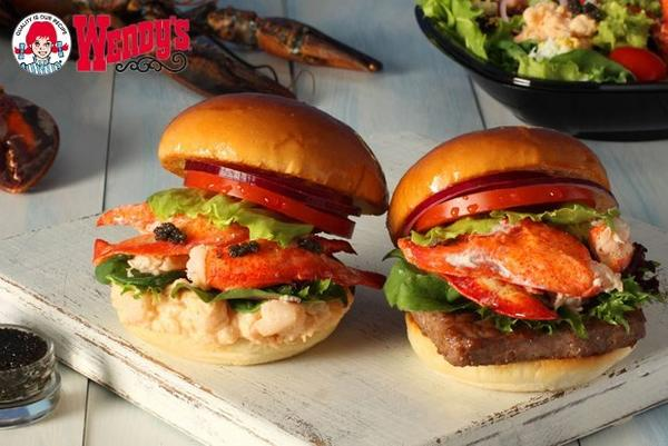 Wendy's goes luxurious with lobster and caviar burgers