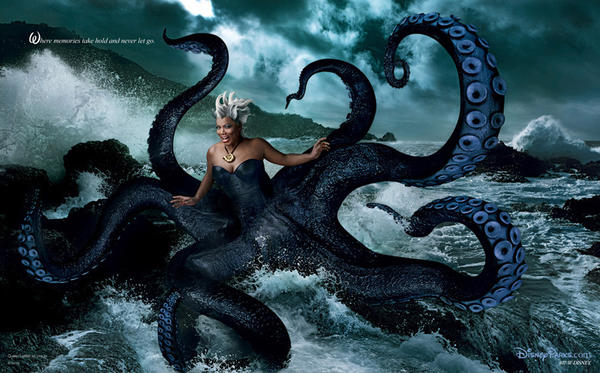 "Queen Latifah as Ursula the Sea Witch from ""The Little Mermaid."""