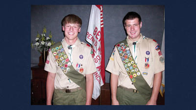 Jared Andrew Meyers and Jacob Eugene Baer joined the ranks of Eagle Scouts from Boy Scout Troop 135 in Berlin.
