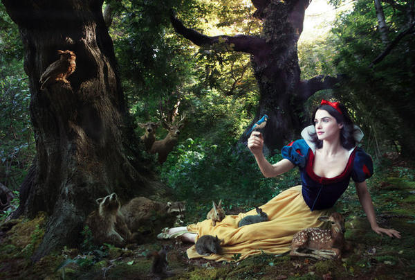 "Rachel Weisz as Snow White from ""Snow White and the Seven Dwarfs."""