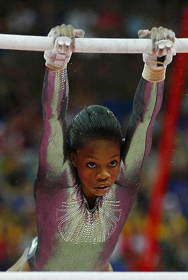 Gabrielle Douglas lost her focus and managed a disappointing eighth place finish in the women's uneven  bars on Aug. 6.