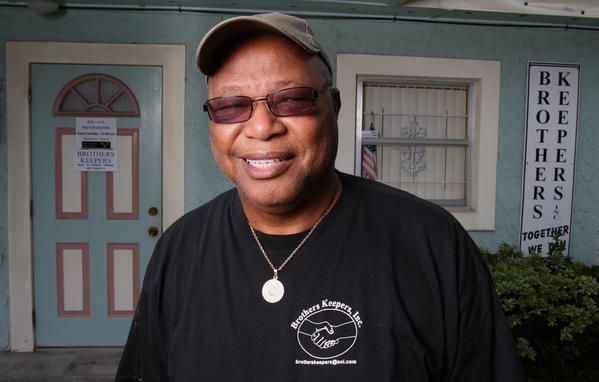 After battling cocaine addiction himself, Oscar Redden of Sanford, Fla., a former deputy with the Seminole County Sherriff's Department and long-time resident of Sanford, now helps those in need through his ministry, Brothers Keepers, on Historic Goldsboro Blvd, (W 13th Street), in the historic Goldsboro neighborhood of Sanford, FL.