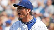 SAN DIEGO — Cubs starter <strong>Matt Garza</strong> is out indefinitely with stress reaction in the back of his right elbow, and could miss the rest of the season.