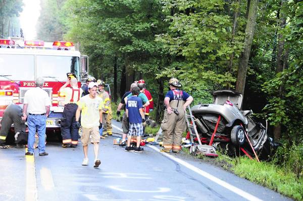 Jim Thorpe police said a 24-year-old woman was killed in a crash Saturday on Lentz Trail.