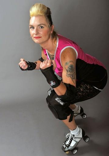 Nicole L. Schaffer of Orefield is a member of the Lehigh Valley Rollergirls.