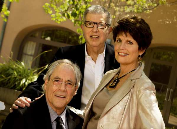 "Robert Klein, left, Lucie Arnaz and Marvin Hamlisch -- the stars and composer for the 1979 Broadway musical, ""They're Playing Our Song"" -- reunite for a concert in June."