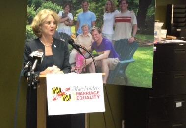 Former Lt. Gov. Kathleen Kennedy Townsend supports same-sex marriage at Baltimore event.