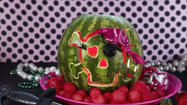 Turn a watermelon into a fiesty pirate with directions at www.watermelon.org