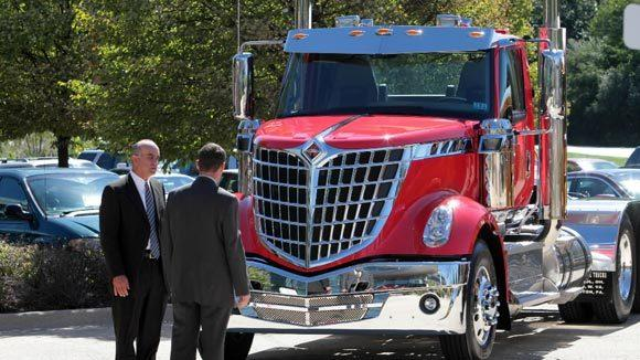 Some of Navistar's vehicles on display in 2010 in Lisle.