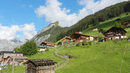 Swiss Alps village