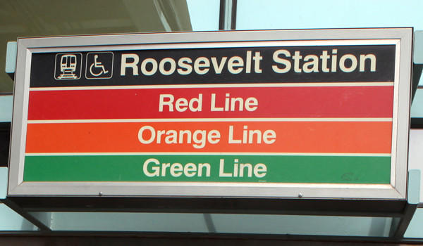Roosevelt Road Green Line Station, April 2012.