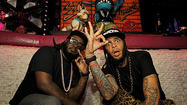 Miami Beach Buzz: Travie McCoy gets a king-size surprise from T-Pain