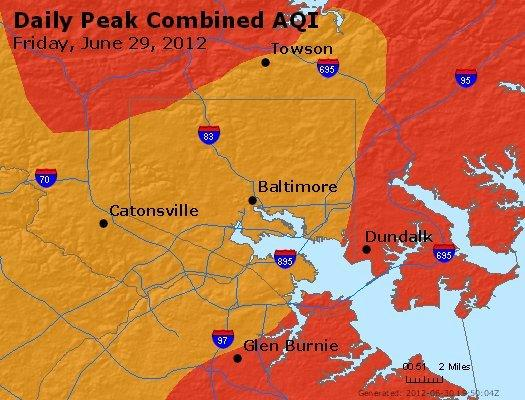 June 29 has been the lone day this summer with a code red air quality alert.