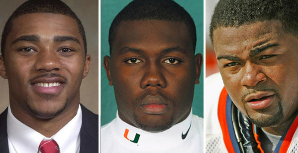 Former NFL players Michael Bennett, William Joseph and Louis Gachelin all face federal charges related to an undercover financial services store set up by undercover FBI agents in North Miami in 2012.