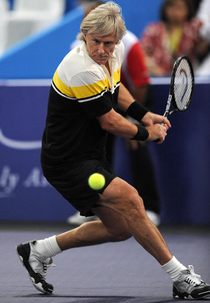 Bjorn Borg is a former professional tennis player. During his career he won five consecutive Wimbledon titles and was ranked as the world's number one tennis player.
