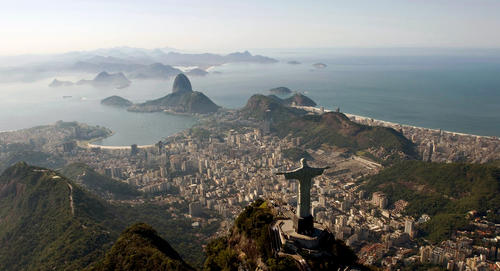 The statue of Christ the Redeemer atop Corcovado mountain is one of Rio's best-known landmarks.