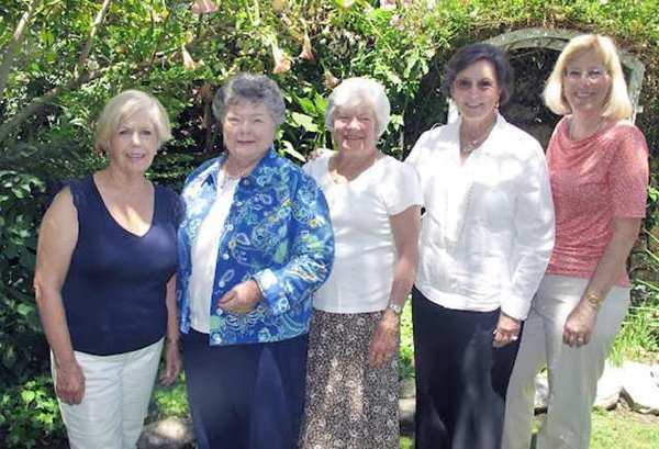 USC Trojan Guild board members ready to start the new year are, from left, Glendale residents Marilyn ODriscoll, product sales treasurer; Carol Thueson, Reflections; Janet Eddy, past president; Gloria Phillips, corresponding secretary; and Burbank resident Leslie Lilly, product account treasurer.