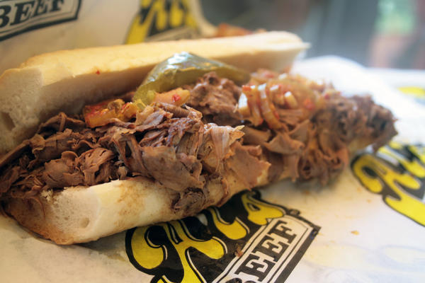 Italian beef sandwich at Al's Beef on Taylor Street